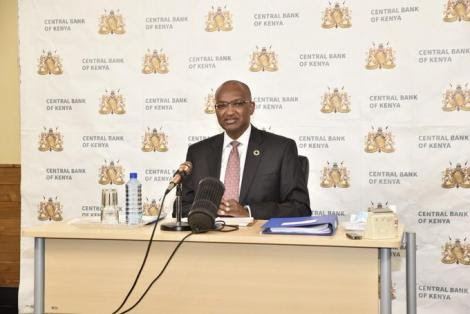 Central Bank of Kenya Governor Patrick Njoroge during a press conference in Nairobi on May 28, 2020.
